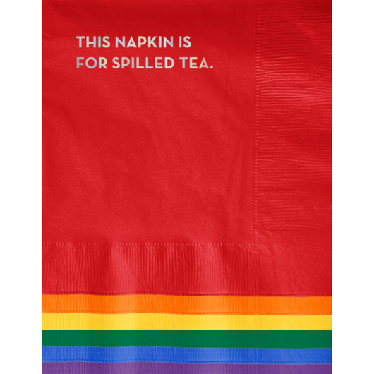 Sapling Press - #635: Spilled Tea Napkins (Multi with Holographic Foil)