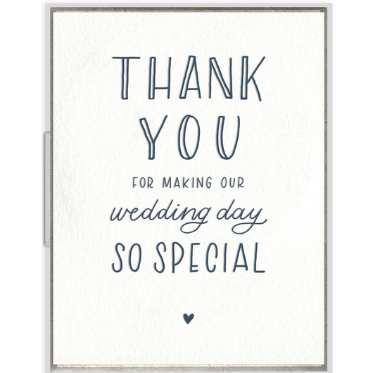 INK MEETS PAPER - Wedding Day Thank You Card