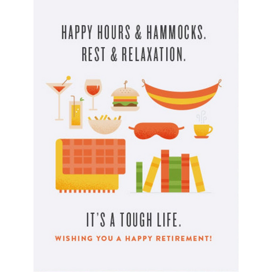 Quirky Paper Co - Tough Life Retirement Card