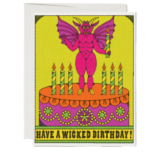 Red Cap Cards - Wicked Birthday Card