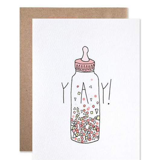 Hartland Brooklyn - YAY! Baby Confetti Bottle Card