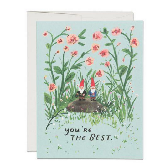 Red Cap Cards - Garden Gnomes Card