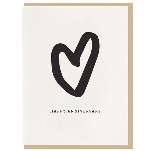 Dahlia Press - Anniversary - Letterpress Card