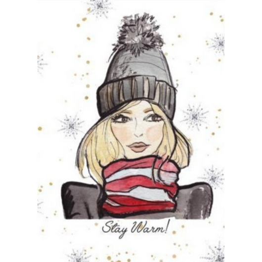 Whodrew - Stay Warm Card