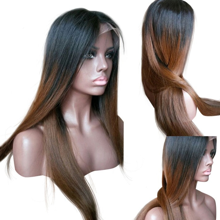 Brown Ombre Human Hair Wig