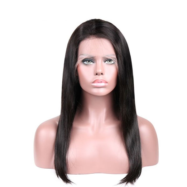 360 lace wig, silky straight texture