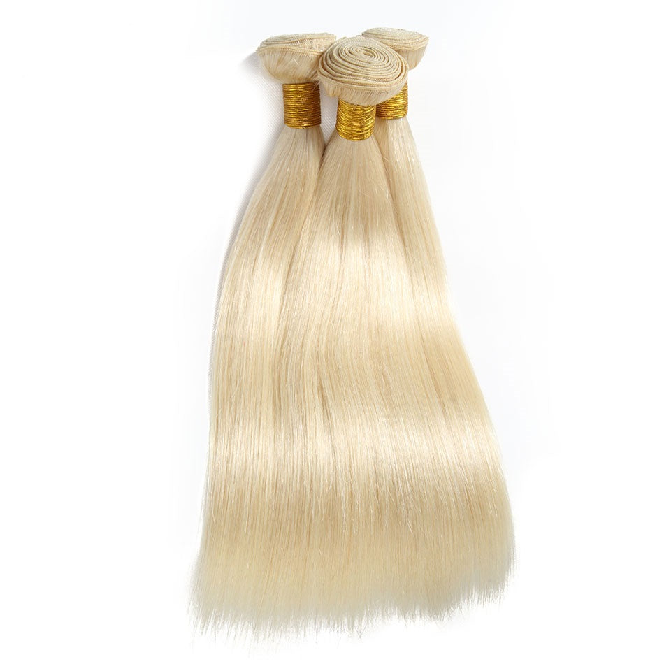 613 blonde virgin hair bundles