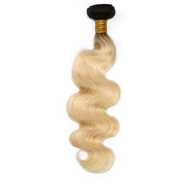 blonde with dark roots body wave bundles