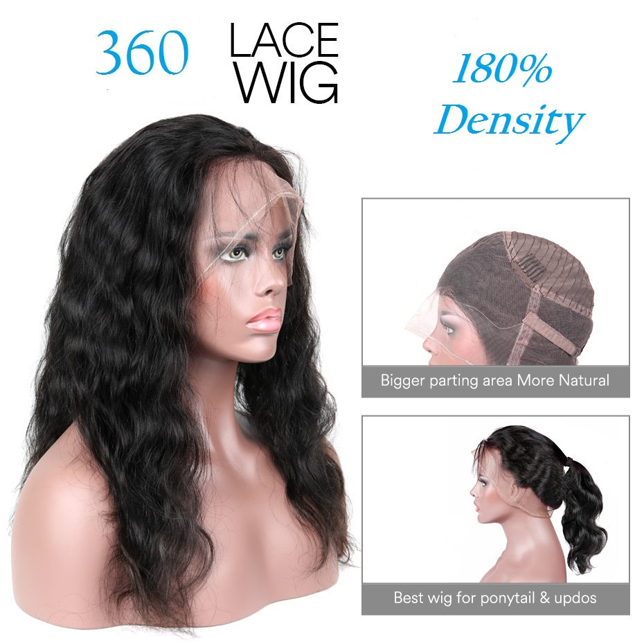 360 lace wig body wave