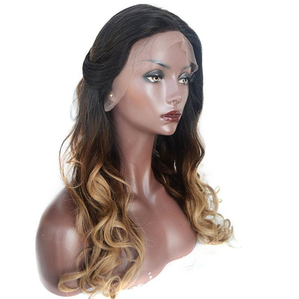 Rapunzel's Design 1b/4/27 Ombre Body Wave Lace Front Wig