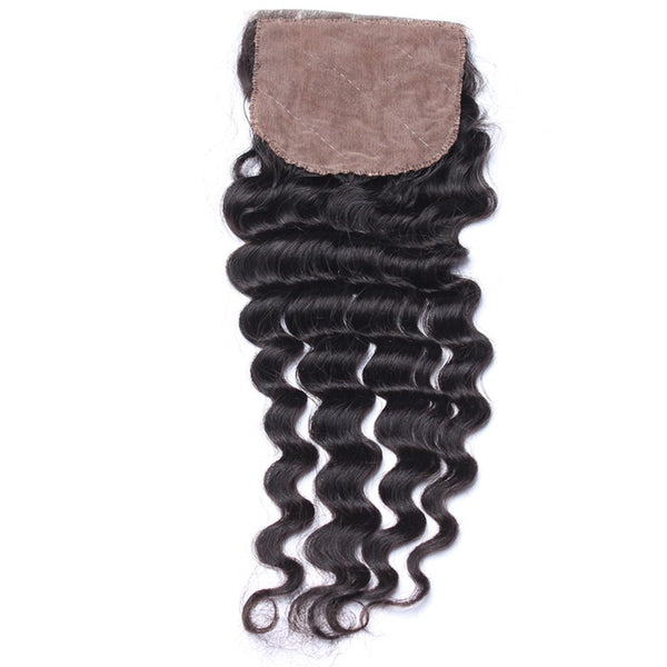 Silk Base Closure - Deep Wave Hair