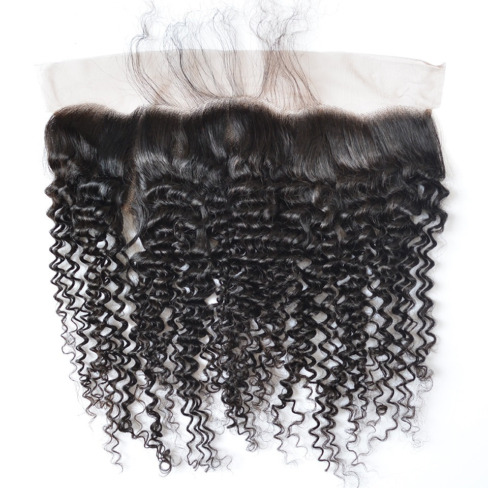 Pre-plucked Kinky Curly Lace Frontal