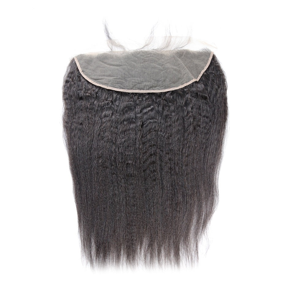 Pre-plucked Kinky Straight Lace Frontal
