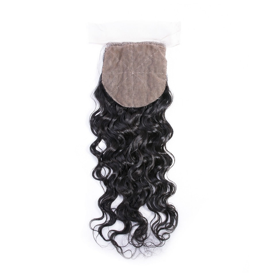 water wave silk base closure