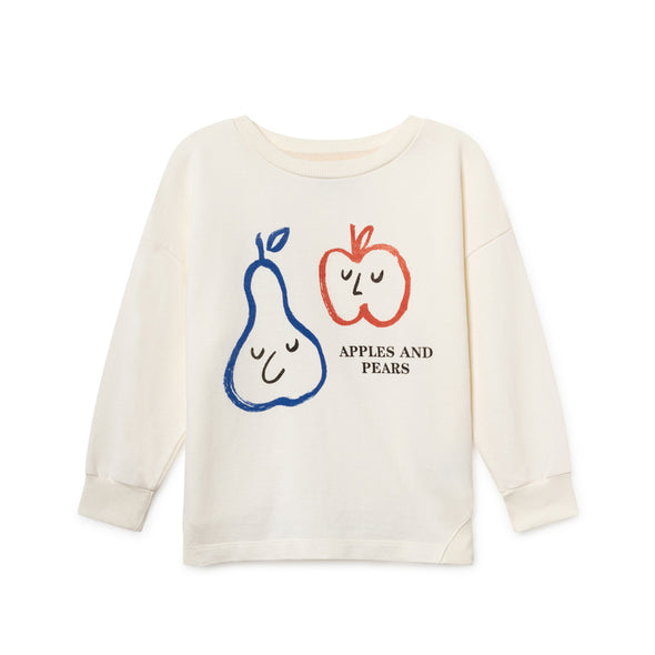 Apples Ad Pears Round Neck Sweatshirt - Bobo Choses - Str. 92-134 - Hvid - OrganicFootsteps