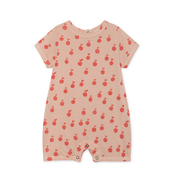 Apples Playsuit - Bobo Choses - Str. 62-98 - Sart Rosa - OrganicFootsteps