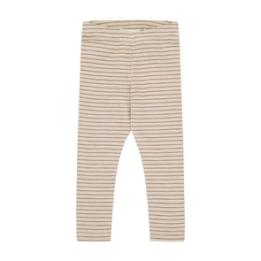 Leggings - Stribet - Beige Brun - Monsieur Mini