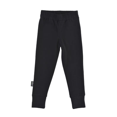 Sort Leggings Med Hvide Stribe - Moi - Str. 92-140 - OrganicFootsteps