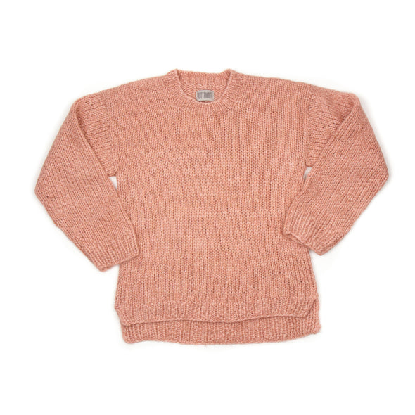 Plainy Sweater - Rose - Uld Strik - Huttelihut