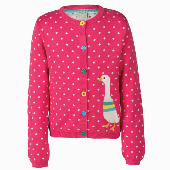 Little Betsy Cardigan - Duck - Frugi - OrganicFootsteps
