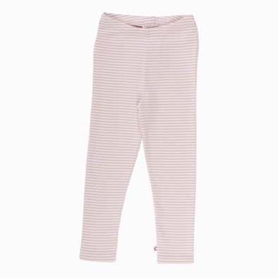 Stribet Basis Cozy Leggings Rosa (baby) - Müsli - OrganicFootsteps