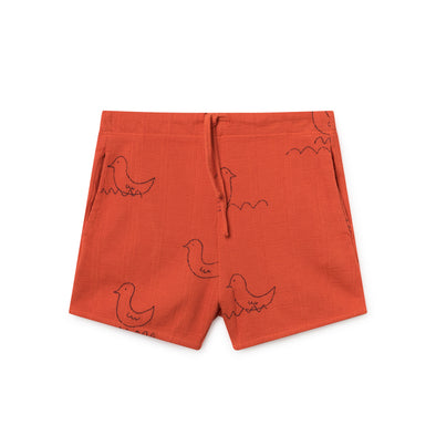 Geese Red Shorts - Bobo Choses - Str. 92-134 - Rød - OrganicFootsteps