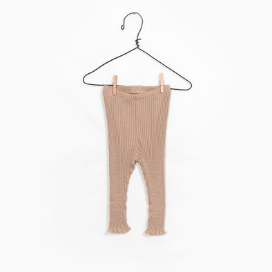 RIB Leggings - Sand/Camel - Play Up