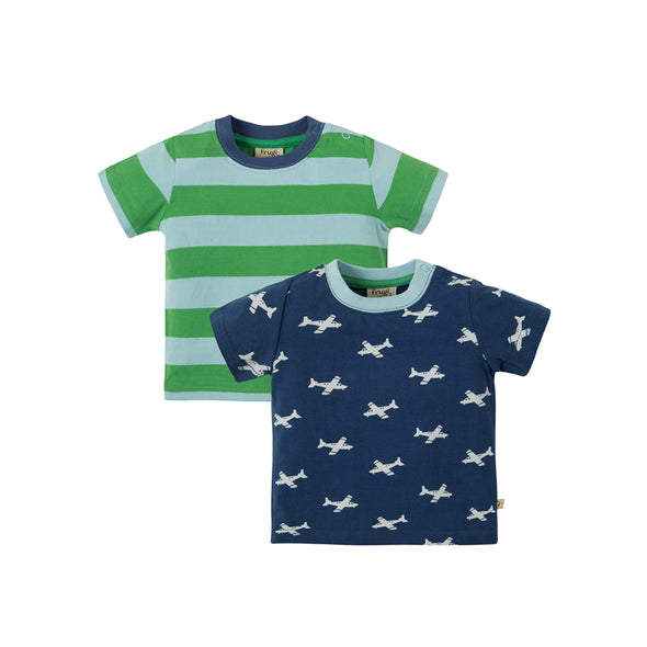 Tresco T-Shirt - Airplan - Frugi - 2 pack - OrganicFootsteps