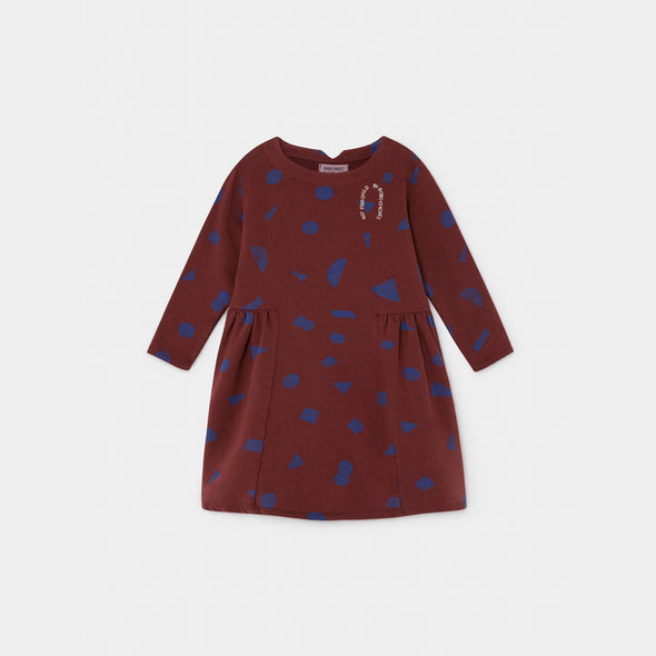 All Over Stuff Fleece Kjole - Str. 92-146 - Bobo Choses - OrganicFootsteps