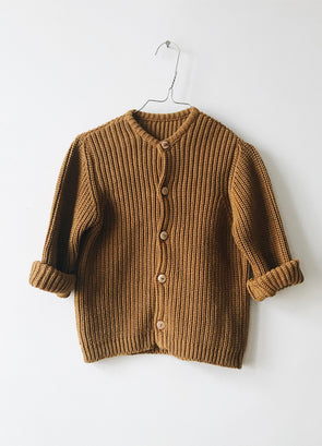 Strik Cardigan - Gold - Monkind Berlin - OrganicFootsteps