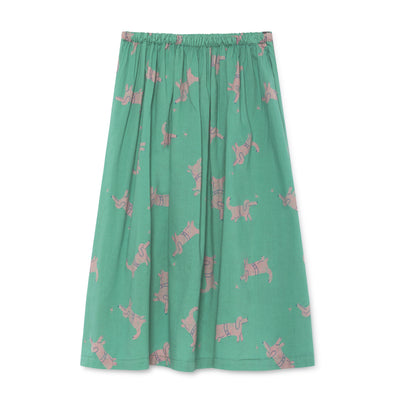 Dogs Midi Skirt - Bobo Choses - Str. 92-134 - Grøn og Rosa