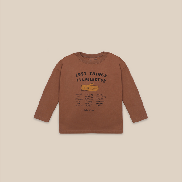 Lost Thing Recollector Long Sleeve T-shirt (Kid) - Brun - Bobo Choses - OrganicFootsteps