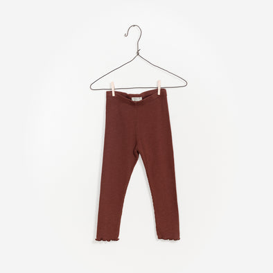 Leggings - Brændt Brun - Play Up - OrganicFootsteps