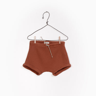 Interlock Shorts - Brændt Brun - Play Up - OrganicFootsteps
