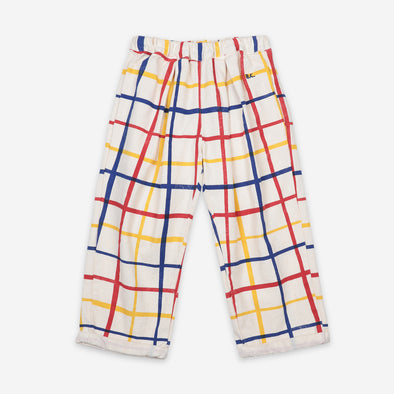 Forudbestilling - Multicolour Checkered Baggy Trousers - Bukser - Bobo Choses