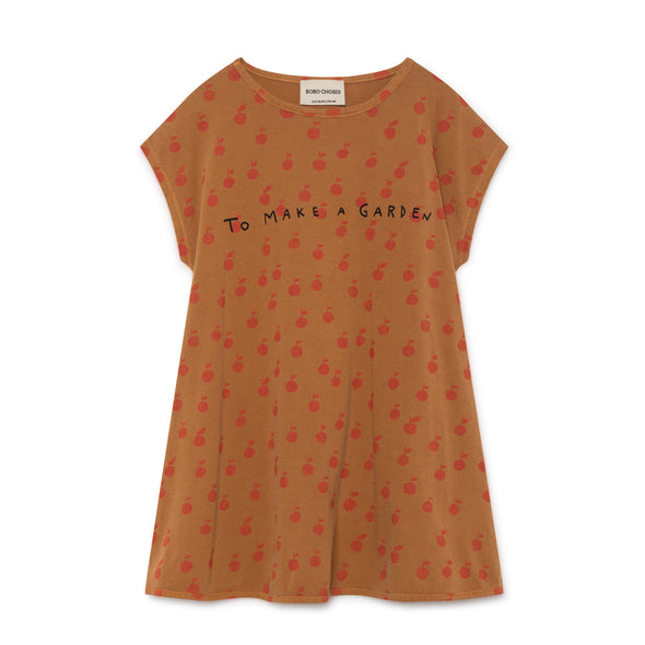 Apples Pencil Dress - Bobo Choses - Str. 92-134 - Brændt brun - OrganicFootsteps