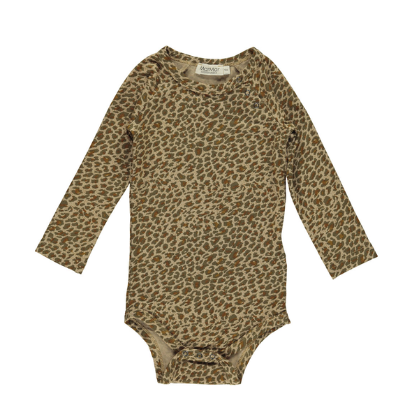 Body - Leopard - Leather - Army Grøn - Brun - MarMar
