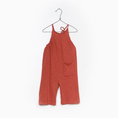 Flamé Jersey Jumpsuit - Brændt Rød / Orange - Play Up - OrganicFootsteps