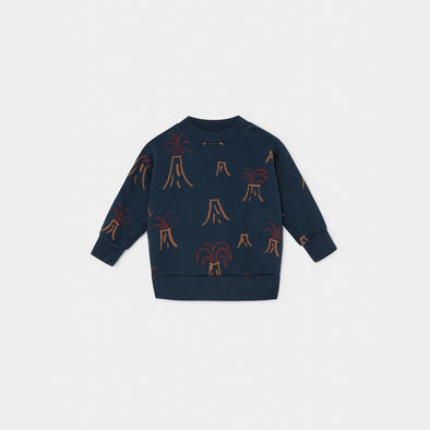 All Over Volcano Sweatshirt- Str. 62-98 - Bobo Choses - OrganicFootsteps
