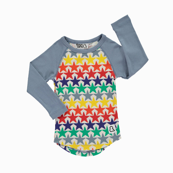 Bright Stars Raglan Multicolor - Boys & Girls - OrganicFootsteps