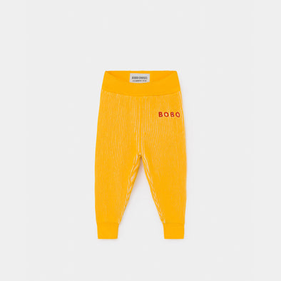 Yellow Striped Knitted Trousers - Baby - Bobo Choses - OrganicFootsteps