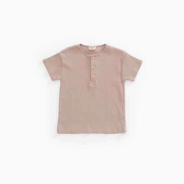 Flame Rib T-shirt - Sand - Play Up - OrganicFootsteps
