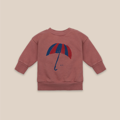 Sweatshirt - Umbrella - Rød Brun - Brændt - Bobo Choses