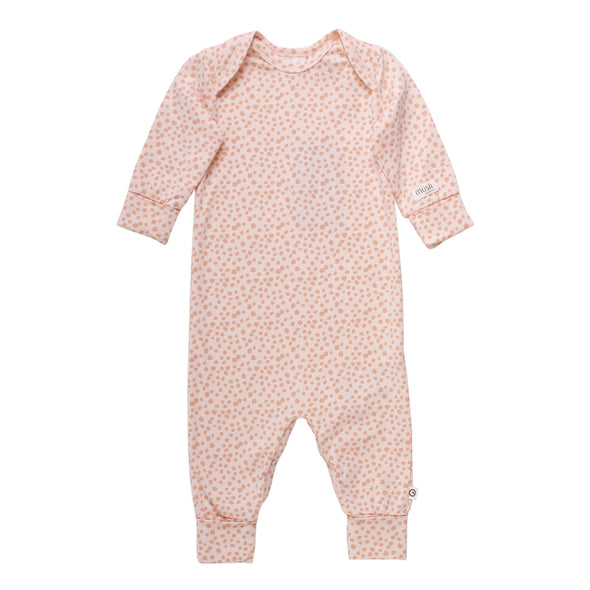 Pure Sleep Bodysuit - Light Peach - Muesli - OrganicFootsteps