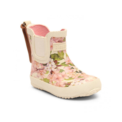 Rubber Boot Creme Flowers - Baby - Bisgaard - Str. 20-25