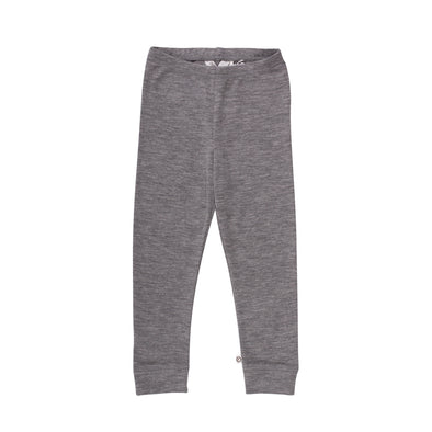 Wolly leggings baby - Grå - Müsli - OrganicFootsteps