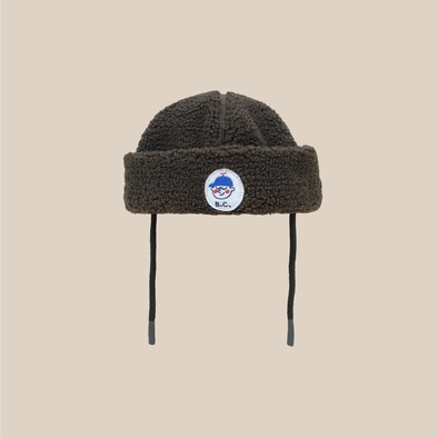 Patch Sheepskin Hat - Vinter Hue - Baby - Army Grøn - Bobo Choses