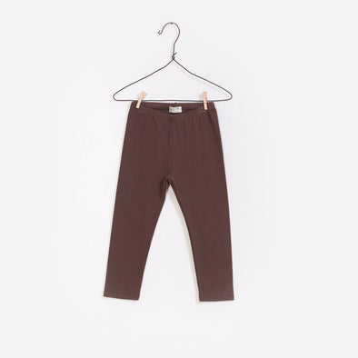 Rib Leggings - Brun - Play Up - OrganicFootsteps