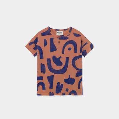 Abstract Button T-shirt - Kid - Bobo Choses - OrganicFootsteps