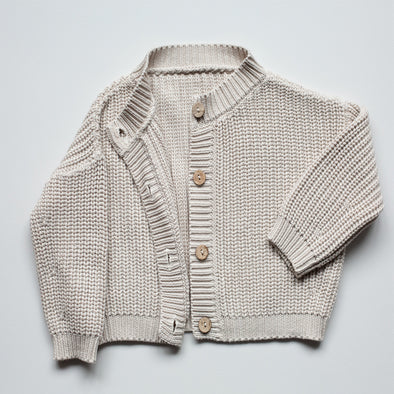 The Chunky Sweater - Strik Cardigan - Oatmeal - The Simple Folk